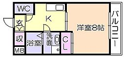 サクシード(御井旗崎)[602号室]の間取り