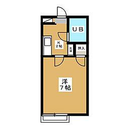 昭栄マンションA棟[1階]の間取り
