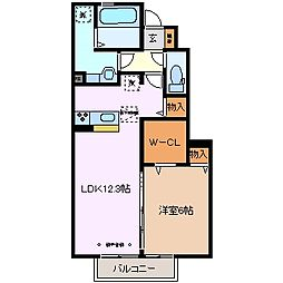 三重県四日市市別名4丁目の賃貸アパートの間取り