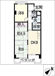 シャンポール幹II[3階]の間取り