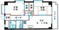 パレグランシャリオ[2階]の間取り