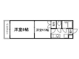 スプレール田中[2階]の間取り