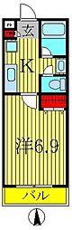 セナリオコート柏V[2階]の間取り