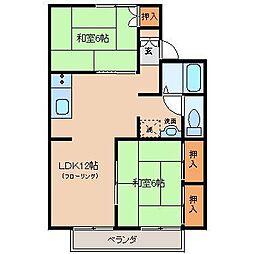 宮崎県宮崎市清武町加納4丁目の賃貸アパートの間取り