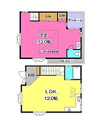[一戸建] 埼玉県入間市東藤沢7丁目 の賃貸【/】の間取り
