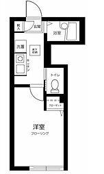 西武池袋線 江古田駅 徒歩8分の賃貸アパート 1階1Kの間取り