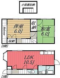 [タウンハウス] 千葉県千葉市若葉区都賀4丁目 の賃貸【/】の間取り