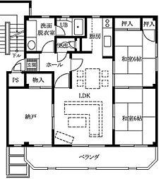 メゾンオグラ[1階]の間取り