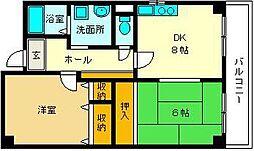 大阪府大阪市淀川区加島4丁目の賃貸マンションの間取り