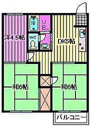 オレンジハウス6[2階]の間取り