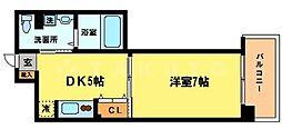 グランマーレ天満橋[11階]の間取り