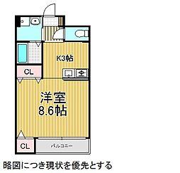 愛知県名古屋市昭和区萩原町6の賃貸マンションの間取り