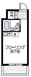 神奈川県横浜市神奈川区新町の賃貸マンションの間取り