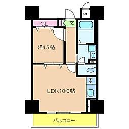 阪神本線 魚崎駅 徒歩7分の賃貸マンション 2階1LDKの間取り