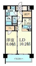 サニープレイス西芦屋2号館 8階1SLDKの間取り