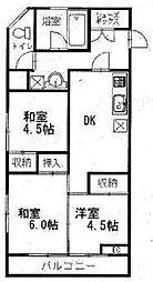 ビューシャルム松本[6階]の間取り