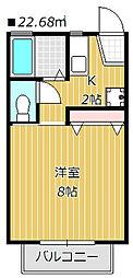 ヴィクトワール津田沼[102号室]の間取り