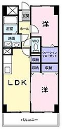 香川県高松市屋島西町の賃貸マンションの間取り