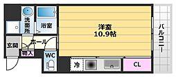 プリム・K・三国ヶ丘[402号室]の間取り