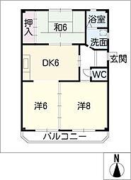 杉野ハイツ[2階]の間取り