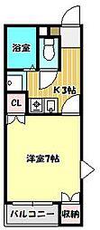 群馬県高崎市中尾町の賃貸アパートの間取り