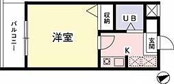 東京都多摩市一ノ宮3丁目の賃貸マンションの間取り