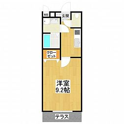 大阪府堺市東区引野町1丁の賃貸アパートの間取り