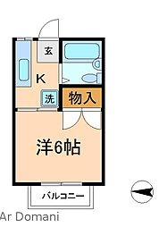 メゾンエクシード[2階]の間取り