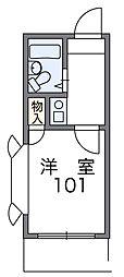 東京都江戸川区松江2丁目の賃貸アパートの間取り
