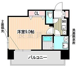 名古屋市営東山線 新栄町駅 徒歩2分の賃貸マンション 8階1Kの間取り