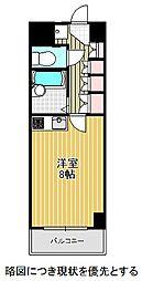 名古屋市営東山線 東山公園駅 徒歩1分の賃貸マンション 4階ワンルームの間取り