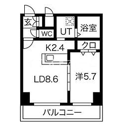 新築レゾ札幌 10階1LDKの間取り