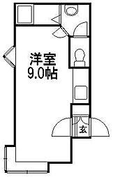 ライラックコート1・2[7号室]の間取り