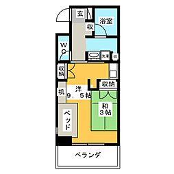 鶴舞ガーデンコート[4階]の間取り