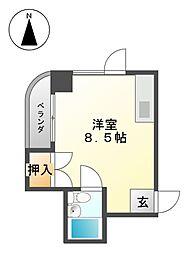 ブラウンハイツ[3階]の間取り