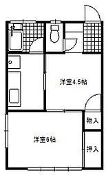 安藤荘[102号室]の間取り