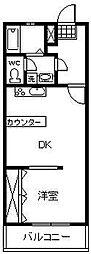 城南センタービル[303号室]の間取り