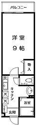 ティブルスK[2階]の間取り
