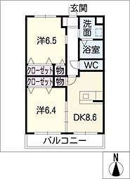 フォーレスト[2階]の間取り