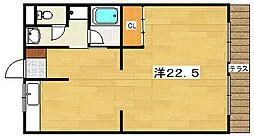 ハイツキタノ[1階]の間取り