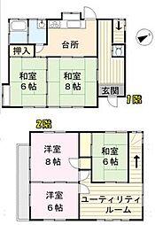 [一戸建] 埼玉県さいたま市浦和区瀬ヶ崎1丁目 の賃貸【/】の間取り