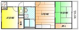 リバティ青山[4階]の間取り