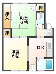石橋荘[2階]の間取り