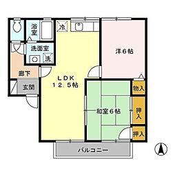 セジュール松泉E棟[2階]の間取り