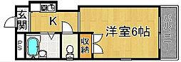 奈良県奈良市南半田東町の賃貸アパートの間取り