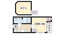 愛知県名古屋市瑞穂区大喜町3丁目の賃貸アパートの間取り