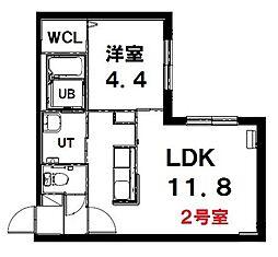 (仮称)北13条西15丁目MS 1階1LDKの間取り
