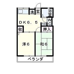シティハイムメルベーユ A棟[1階]の間取り