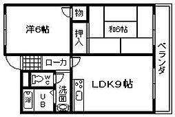泉昭マンション[1B号室]の間取り