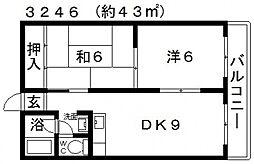 藤ヶ丘ハイツ[203号室号室]の間取り